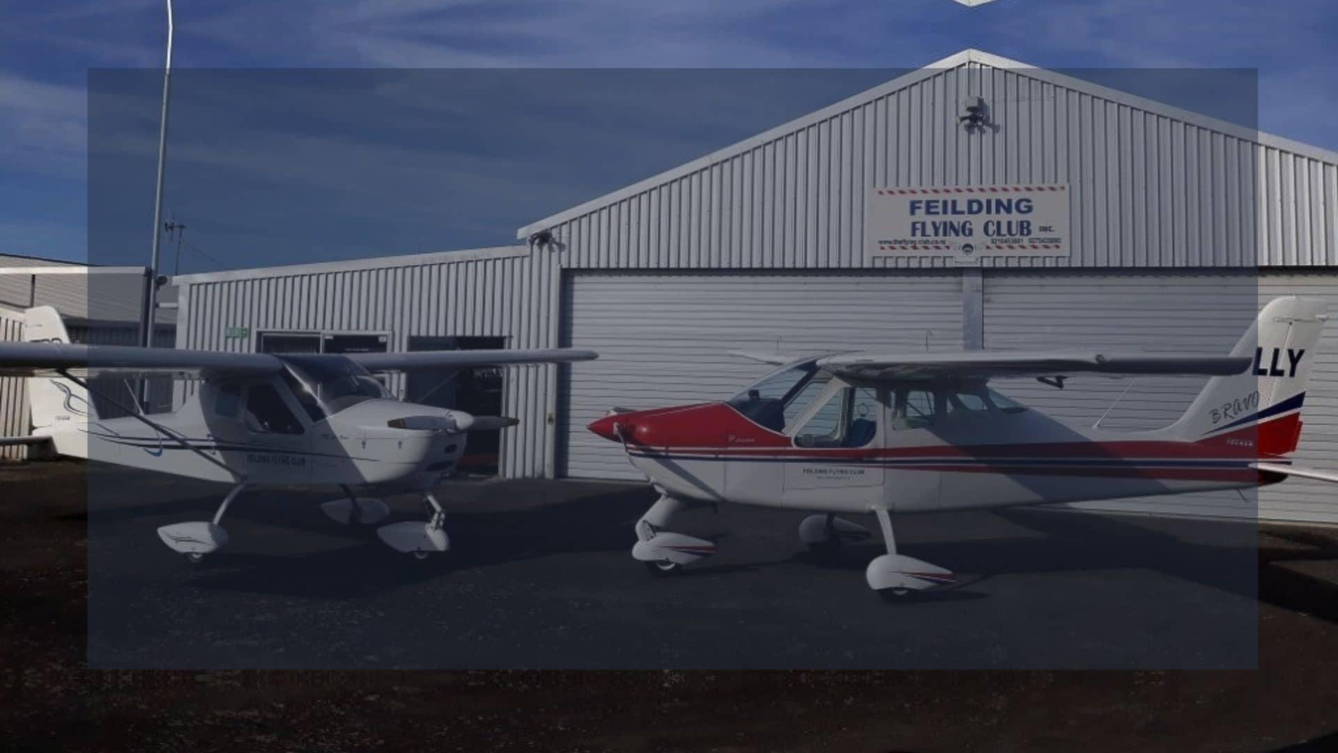 Feilding Flying Club Hangar and Planes